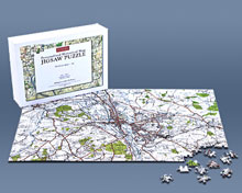 Jigsaws personalised with a historical map of your home